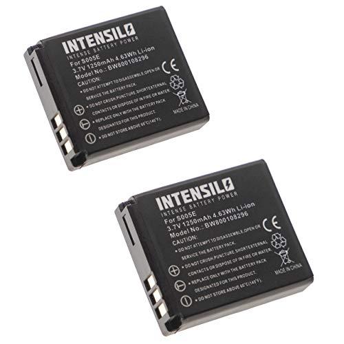 INTENSILO 2X batería Li-Ion 1250mAh (7.4V) para cámara videocámara Panasonic Lumix DMC-LX1, DMC-LX2, DMC-LX3 y DMW-BCC12, CGA-S005, Fuji NP-70.