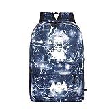 WYCY学生バックパックMarshmelloスクールバッグユニセックス防水スクールブックバッグ印刷トレンドリュックサック用女の子と男の子 (ライトニングブルー)