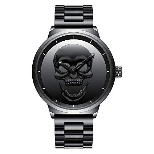 Reloj de Pulsera cronógrafo Impermeable de Reloj de Cuarzo para Hombre, Fecha automática -B