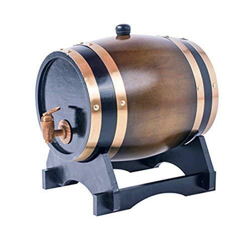 ROSG Dispensador de Barril de Whisky de Barril de envejecimiento de Roble de 3L para el Almacenamiento de la Edad de Tus licores de Cerveza Whisky Rum Port Bourbon Tequila Licor Brown
