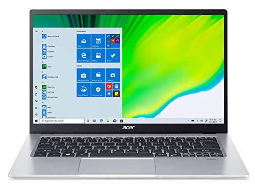Acer Swift 1 SF114-34-C0K3 Ordinateur Portable Ultrafin 14'' FHD IPS, PC Portable (Intel Celeron N4500, RAM 4 Go, 64 Go eMMc, Intel UHD Graphics, Windows 10) - Clavier AZERTY (Français), Laptop Gris