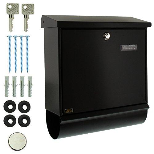 BURG-WÄCHTER, Briefkasten-Set mit integriertem Zeitungsfach, A4 Einwurf-Format, Verzinkter Stahl, Comfort-Set 91300 S, Schwarz - 5