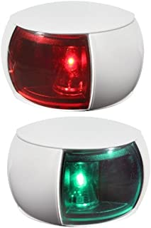 HELLA 980520811 '0520 Series' NaviLED Multivolt 8-28V DC 2 NM Compact Port and Starboard Navigation Light Kit with Colored Outer Lens and White Shroud