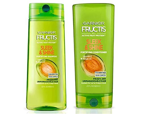 Garnier Fructis Sleek and Shine 22 fl; oz; - 1 Shampoo + 1 Conditioner (Family Size)