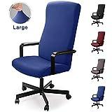 Housse pour Chaise de Bureau Housse de fauteuil rotatif Housse Tissu élastique...