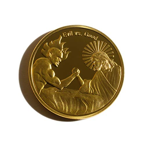 Donatio Evil Vs Good In God We Trust - Moneda Conmemorativa chapada en Oro