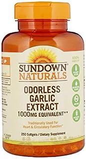 Sundown Naturals Odorless Garlic 1000 mg Softgels, 500 Count (2 X 250 Count Bottles)
