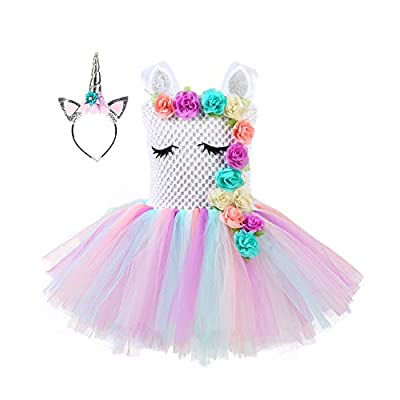 Girls Tulle Tutu Costumes Birthday Party Dress with 25022021123244