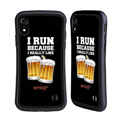 Head Case Designs Ufficiale Emoji® Birra Cibo Cover Ibrida Compatibile con iPhone XR