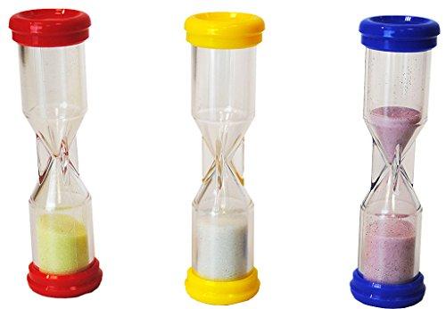 HenBea - Relojes de arena (1, 2 y 3 minutos) (822) , color/modelo surtido