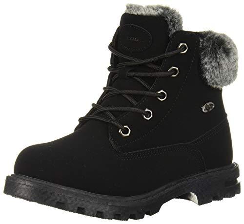 Lugz Unisex-Kid's Empire Hi Fur Fashion Boot, Black, 3 D US Little Kid