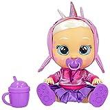 IMC TOYS CRY BABIES Kiss Me Stella Muñeca interactiva Que se sonroja con un Beso y llora como un bebé, con Pelo para...