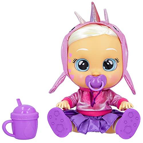 BEBÉS LLORONES Kiss Me Stella | Muñeca interactiva Que se sonroja con un Beso y llora como un bebé, con Pelo para peinar, Ropa para Vestir y Accesorios para Jugar| Juguete para niños de +2 años