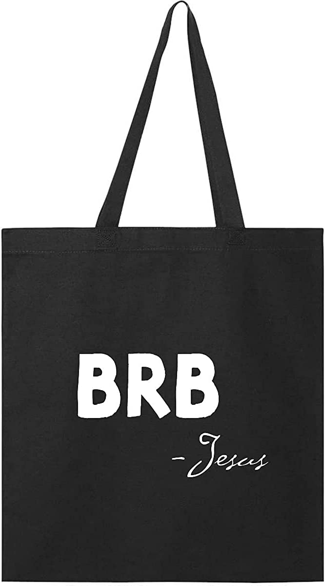 Inktastic Easter BRB Jesus Tote Bag