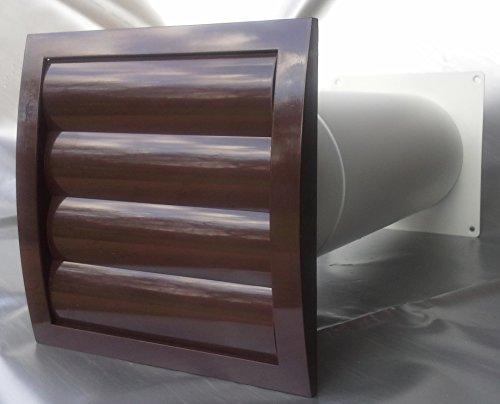 Mauerkasten NW 100 Dunstabzug Teleskop Rohr Lamellen Verschlussklappe MKWSKQLB100