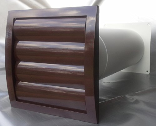 Mauerkasten NW 125 Dunstabzug Teleskop Rohr Lamellen Verschlussklappe MKWSKQLB125