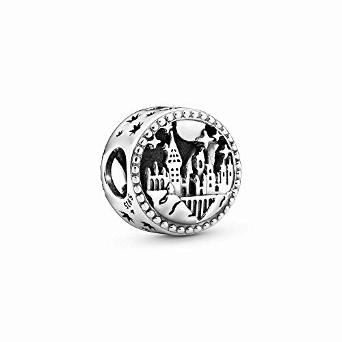 La Menars Openwork Icons School Girl Charm for Bracelets 925 Silver Beads for Women's Bracelets & Necklaces Dangle Pendant for Valentine's Day Mother's Day Happy Birthday Christmas Gift (Hogwarts School)