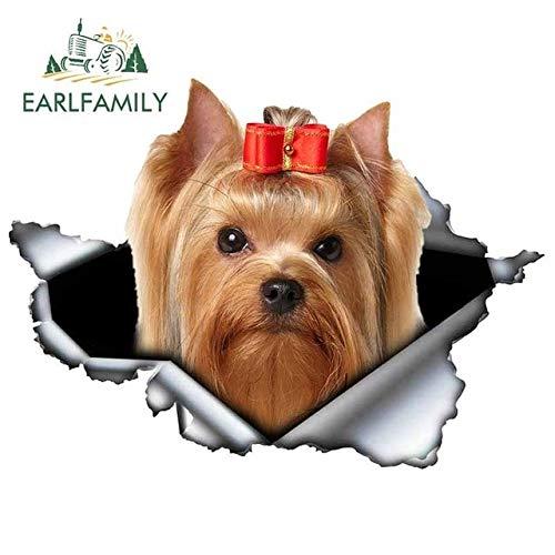 FAFPAY Car sticker 13cm x 12.6cm Yorkshire Terrier Animal Car Decal Vinyl Sticker Ripped Metal Stickers Window Bumper Pet Dog car styleStyle G