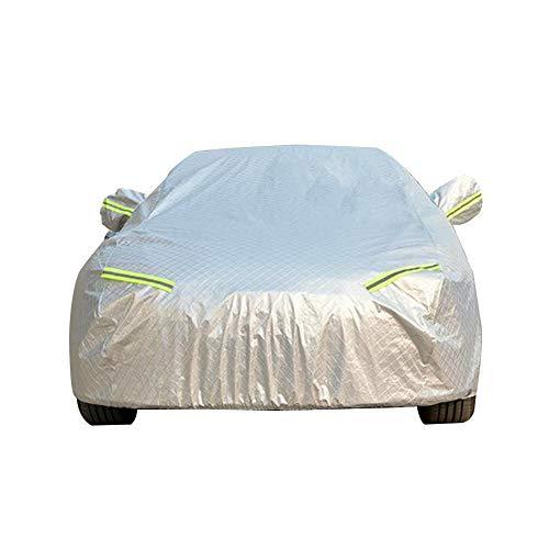 GUOCU Autoabdeckung Vollgarage Vlies, In wetterfestem Vliesstoff, strapazierfähig und atmungsaktiv Für Auto Winter & Sommer,Farbe 2,S für Sedan-Länge (Bis zu 425CM)