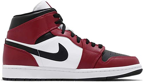 Nike Air Jordan 1 Mid Chicago Retro Black Gym Red Rosso Nero Bianca 554724 069