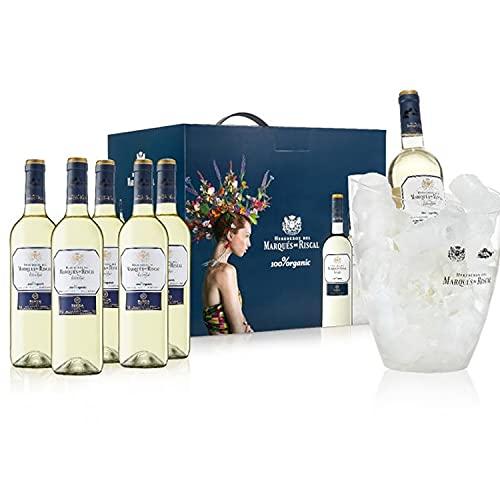 Caja 6 Riscal Verdejo Organic 2020 + Champagnera