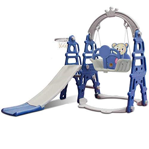 Reeamy-Home KinderrutscheKinderrutsche Und Schaukel Kinderspielplatz Kindergarten Baby Outdoor Kunststoff Multifunktionsrutsche Schaukel DREI-in-EinsKunststoffAußen