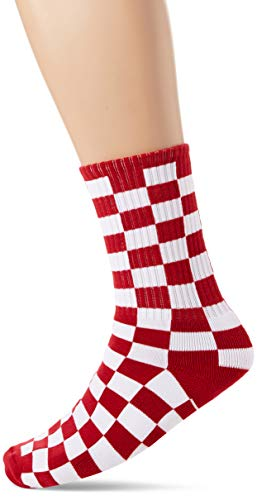 Vans_Apparel Herren CHECKERBOARD II CREW (6.5-9, 1P) Socken, Rot (Red-White Check Rlm), One Size