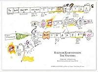 ポスター ラグナル キアルタンソン The Visitors February 1 ? March 6 2013年 額装品 アルミ製ハイグレードフレーム
