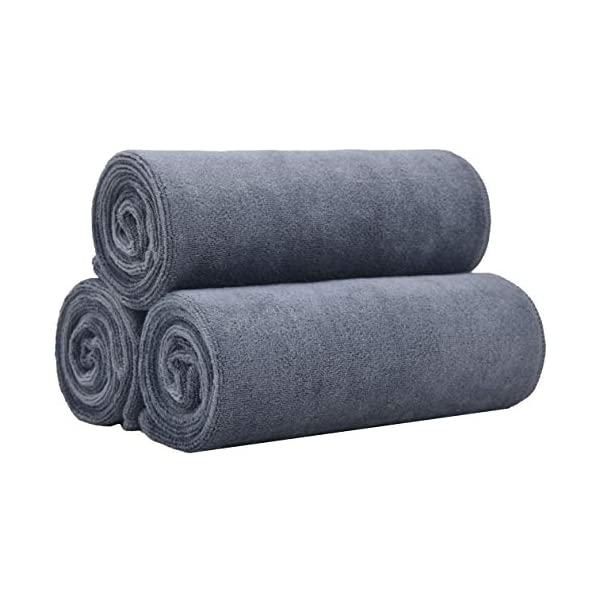 BloomSesame Microfiber Gym Towels 3 Pack 16 x 35 Inch Fitness Workout Sweat Towels...