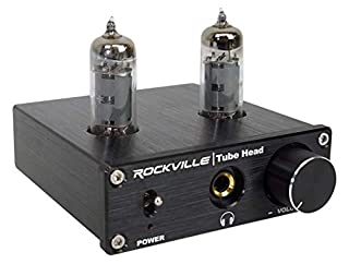 Rockville TubeHead Tube Headphone Amplifier Amp / 6K4 Tubes / 16-300 Ohms/180mW