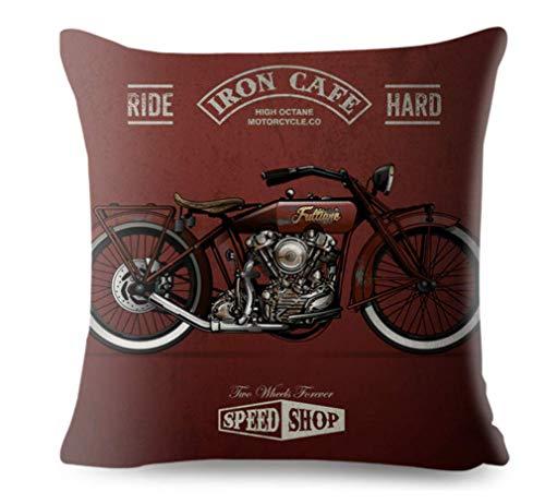 Kustom Factory - Cojín para moto, diseño vintage, color rojo