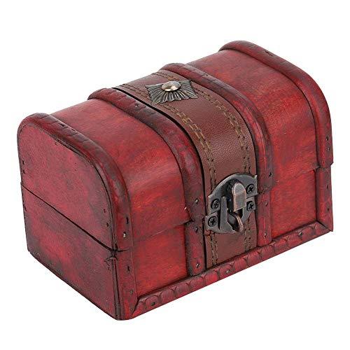 Caja de madera, joyero de madera Vintage para regalo para guardar cosas para guardar 'aretes para joyería(Small buckle)