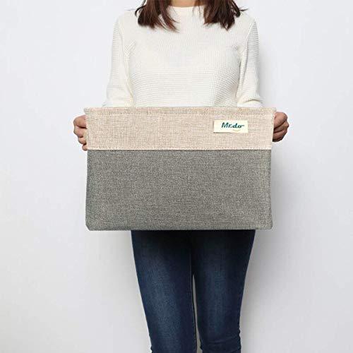 Opbergbox opbergmand kubus voor ondergoed speelgoed opbergmanden met handgrepen, katoen & linnen