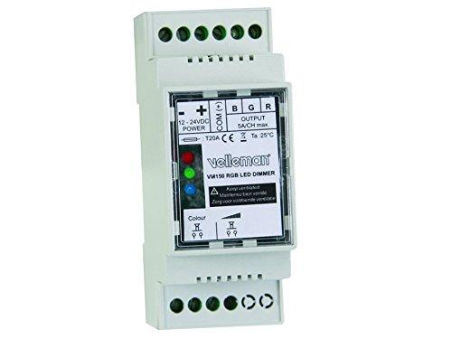 Velleman VM150 Modul RGB LED-Dimmer für Hutschiene, weiß