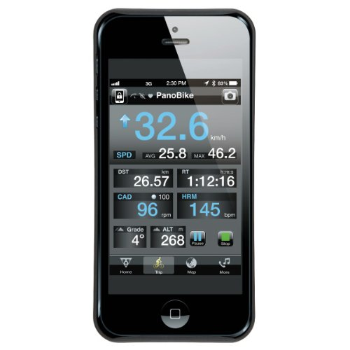 Topeak Unisex-Erwachsene Handytasche RideCase für Apple iPhone 5, Schwarz, 12.7 x 6.2 x 1.5 cm