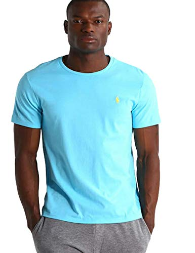 Ralph Lauren Camiseta para Hombre Custom Fit (XL, Turquesa)