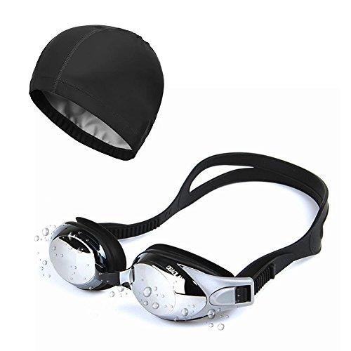 Sunzit Gafas de Natación, Gafas de natación para Adultos,Hombres, Mujeres con Gorra de natación, Estuche Protector Gratis apones para los oídos y garantía de por Vida Incluida