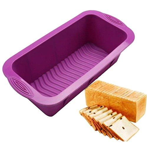 Pain de viande et boîte à pain | Gourmet Moule à pain en silicone anti-adhésif | Banane pour la cuisson à pain à pain, DE LA viande, Quatre-quarts | 24,9cm Paroi en silicone sans BPA