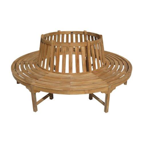 SEDEX Holz Baumbank Kentucky aus hochwertigem Hartholz, Ø 208cm