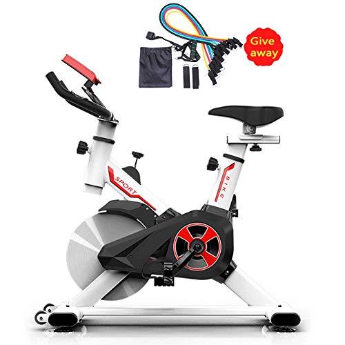 LIUCHANG Aerobic-Training Fitness Cardio Bike Indoor Cycling Bike Silent-Gürtel Einstellbare Lenker Sitz Fitness Bike Upright Heimtrainer Indoor Studio Cycles, Rot liuchang20 (Color : White)