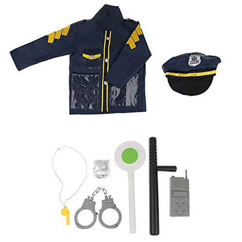 CUTICATE Kit De Vestuario De Oficial De Policía - Juego De Simulación Juego De Detectives De Juguete Juego De Accesorios Prop