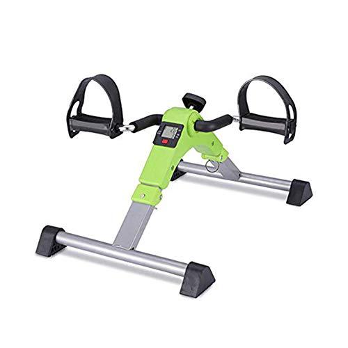 YOUGL Mini Cyclette, Pedale Ginnico, Piede Portatile Pieghevole, pedaliera per Esercizi a Mano, Attrezzature per Palestra Riabilitazione Fitness per Anziani