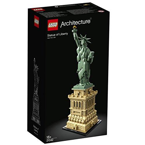 LEGO 21042 Architecture Freiheitsstatue, Modell zum Bauen, New York Souvenir, Geschenkidee für Sammler (1685 Teile)