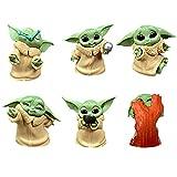 BESTZY Baby Yoda Toy 6 Figuras de Peluche para Bebé Baby Yoda Doll Figure Modelo de Acción para la O...