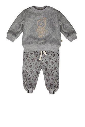 Kanz Unisex Baby Sweatshirt 1/1 Arm + Jogginghose Bekleidungsset, Grau (Zara Gray Melange|Gray 8600), (Herstellergröße: 56)