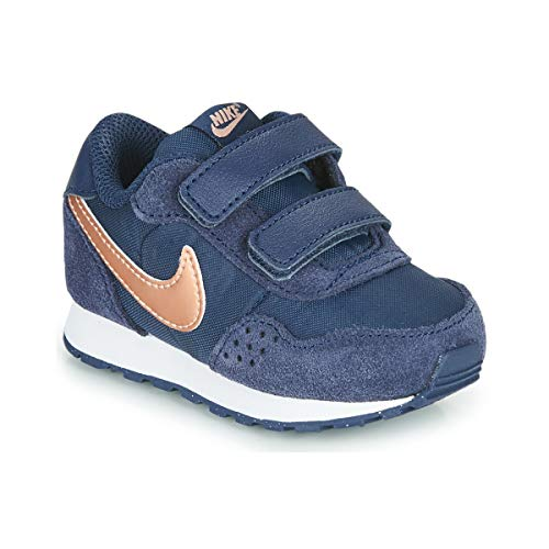 Nike Md Valiant (TDV) - Midnight Navy/MTLC red Bronze-White, Größe:9C