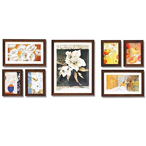 Fotobehang Decoratieve Fotolijst Effen Hout Creatieve Combinatie Fotolijst Multifunctionele Fotomuur