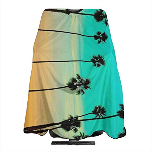 Professional Barber Cape Summer Beach Palm Trees Salon Haircut Aprons Hair Styling Gown For Coloring Perming Hair Cutting Treatment Shampoo Chemical Proof Hairdresser 55