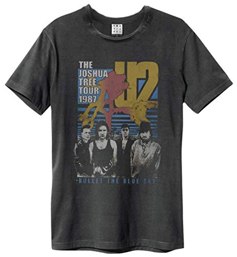 Amplified Clothing U2 'Bullet The Blue Sky' (Charcoal) T-Shirt (XX-Large)