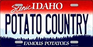 Potato Country Idaho Background Metal Novelty License Plate (Sticky Notes)